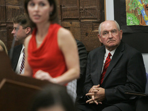 Georgia Gov. Sonny Perdue (right)