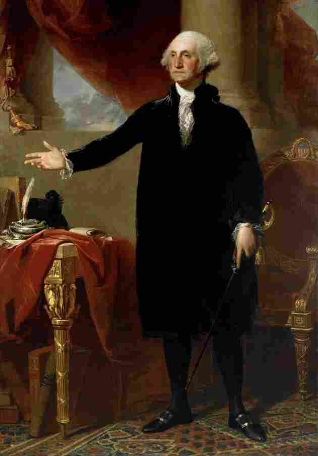 Gilbert Stuart 1796 portrait of George Washington.