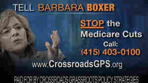 An image from ad by Crossroads GPS, attacking Sen. Barbara Boxer, D-CA.