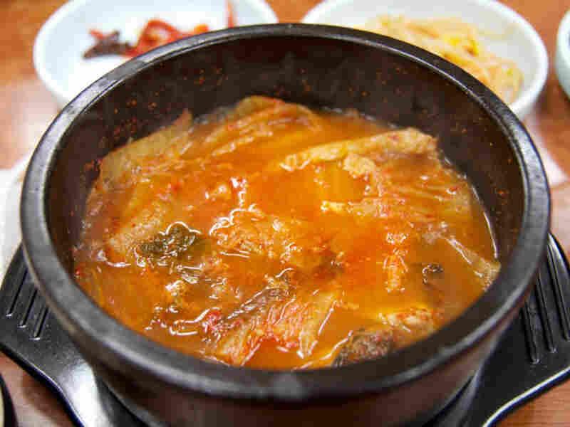Namsan Kimchi Jigae restaurant in Seoul serves only hot kimchi stew with pork.