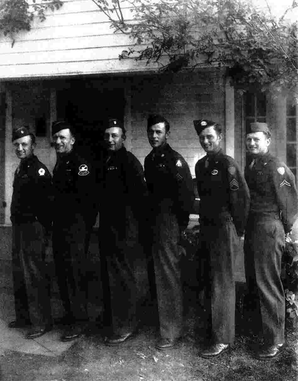The Neufeld boys (from left to right) Frank, John, Jake, Bill, Dave and Abe, were among 250 Mennonites who fled Russia in 1929 after it came under Soviet rule. The brothers were so grateful to enter the U.S., they served in World War II even though it was forbidden by their religion.