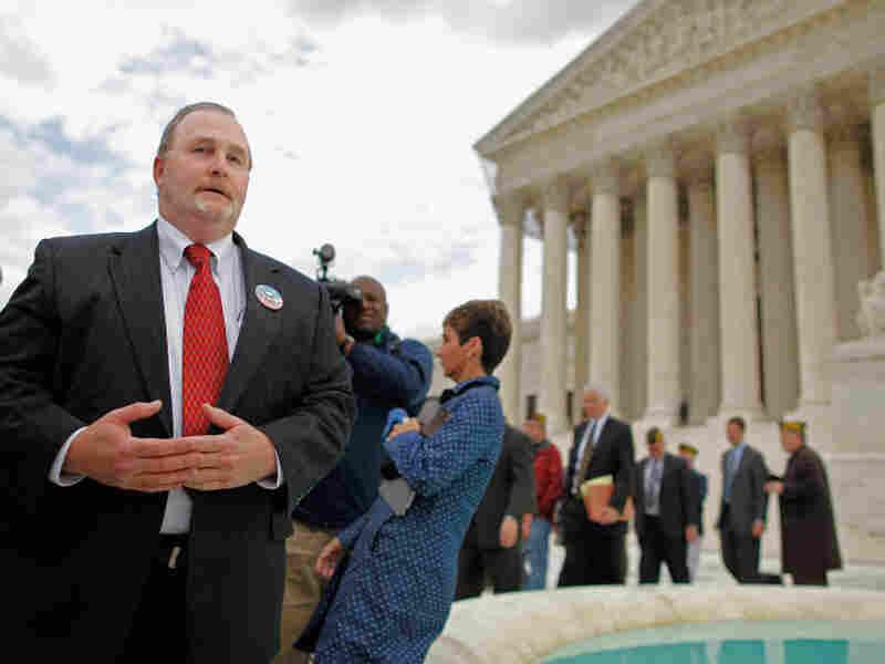 Albert Snyder leaves the Supreme Court building in Washington, D.C.