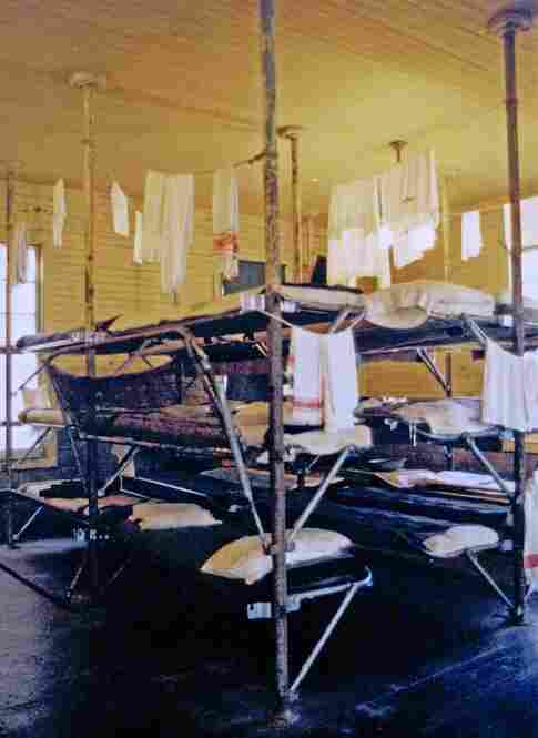 A photo of the refurbished women's quarters of the Angel Island Immigration Station's detention barracks, taken in the 1980s.
