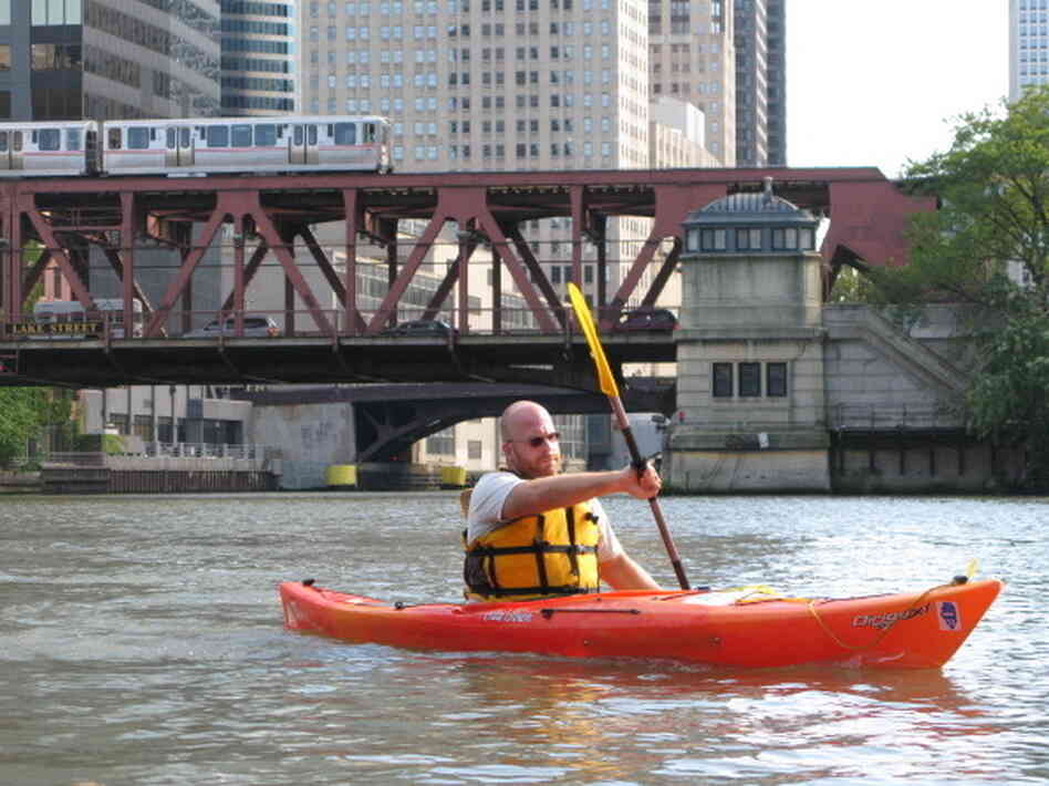 Josh Ellis on the Chicago River