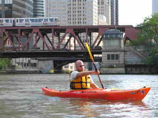 Josh Ellis on the Chicago River