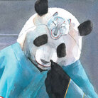 Illustration of panda from 'Zen Ghosts'
