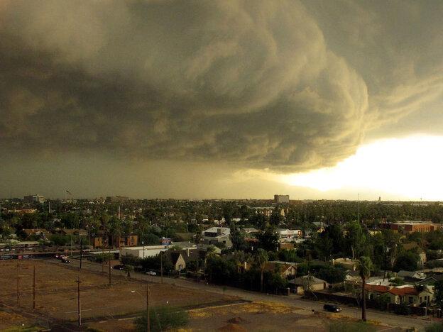 Storm clouds above Phoenix earlier this week.
