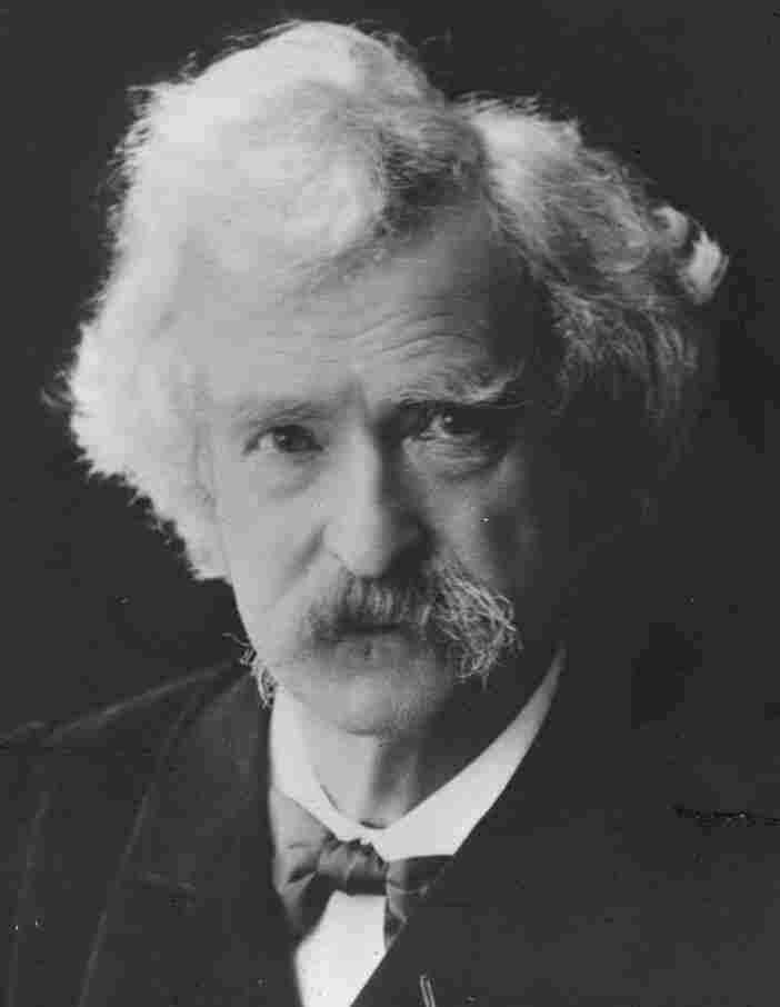Mark Twain, around 1900.