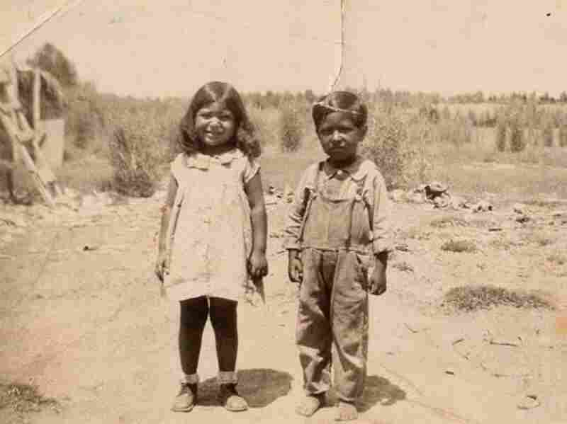 Cesar Chavez, six years old, with his sister. Chavez was born on a small Arizona farm and became an itinerant laborer when his family lost their ranch. Before Chavez and the labor movement, migrant workers had practically no rights.