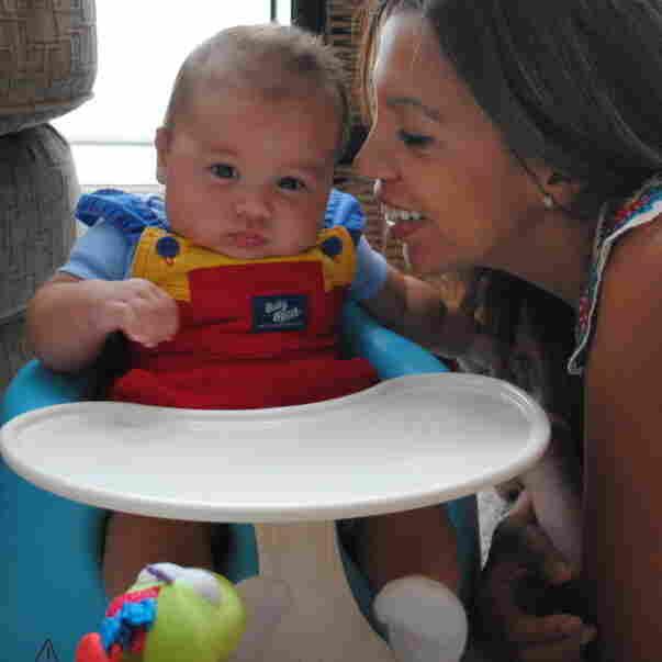 Vanessa Vohden with 4-month-old Santiago
