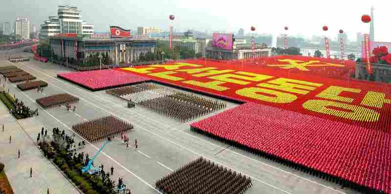 The parade was said to be the nation's largest ever, an impressive display of unity and military might for a country known for its elaborately staged performances, suggesting bigger celebrations than just the Workers' Party anniversary.