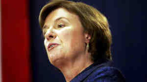 Carol Shea-Porter at a 2008 political debate