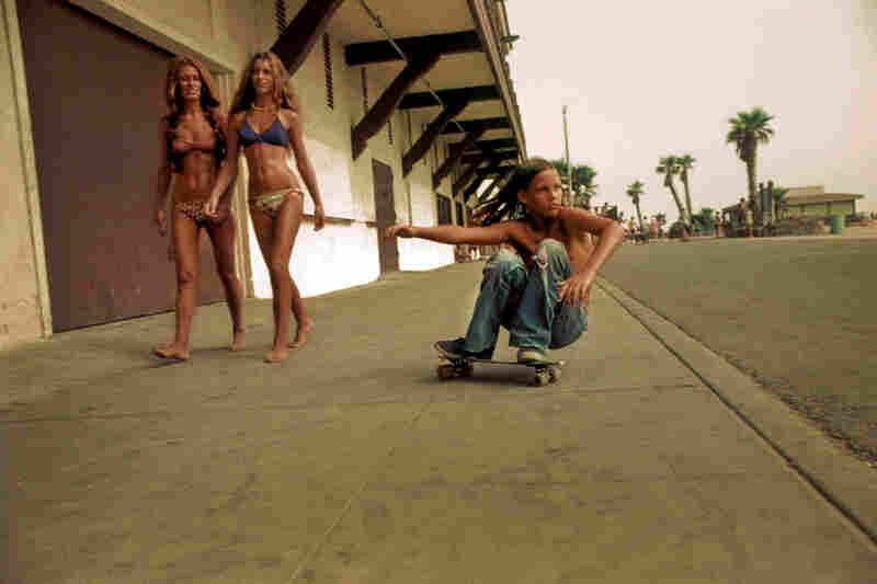 """Sidewalk Surfer,"" Huntington Beach, 1975"