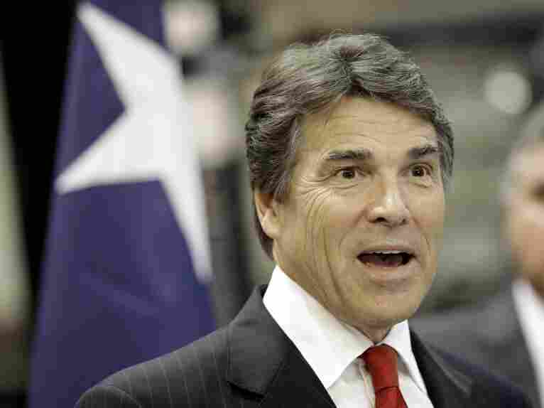 Texas Gov. Rick Perry speaks during a campaign stop last month in Houston.