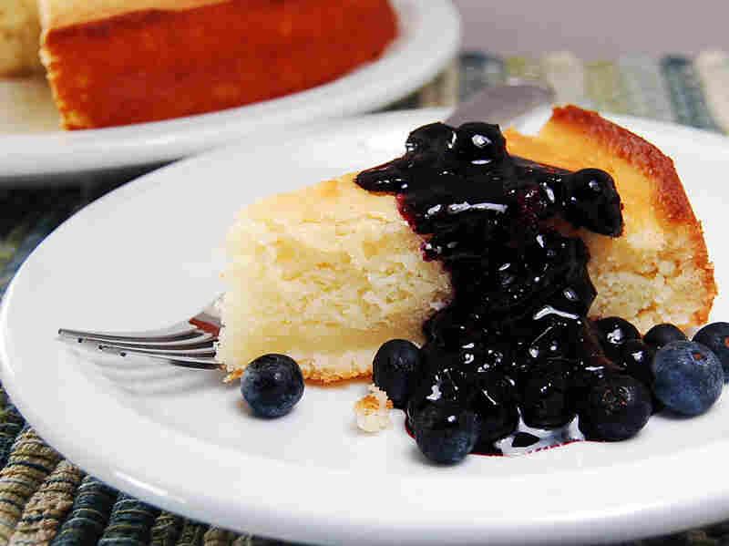 Yogurt Cake With Blueberry Sauce