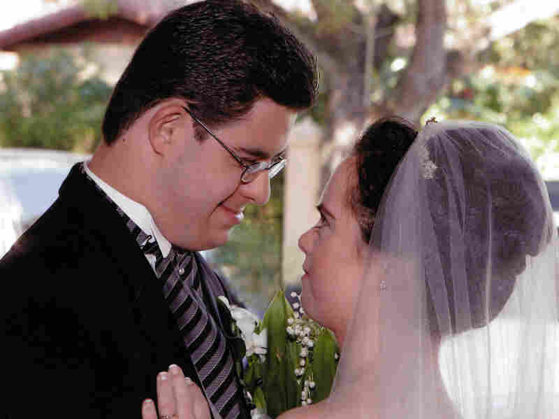 Monica and David at their wedding