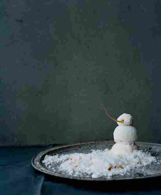 Snowman: The furthest thing from an actual snowman, this dish includes more than 30 ingredients, including sea buckthorn juice, brunoised carrot and sheep's yogurt.