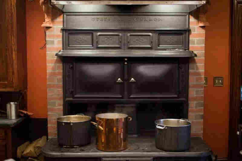 Kimball's feast was prepared on a Victorian-era Cyrus Carpenter No. 7 — the largest coal cook stove model ever made for the American market. It took almost a year to restore the stove and install it in the basement of Kimball's Boston home.