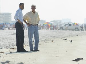 President Obama and Florida Governor Charlie Crist