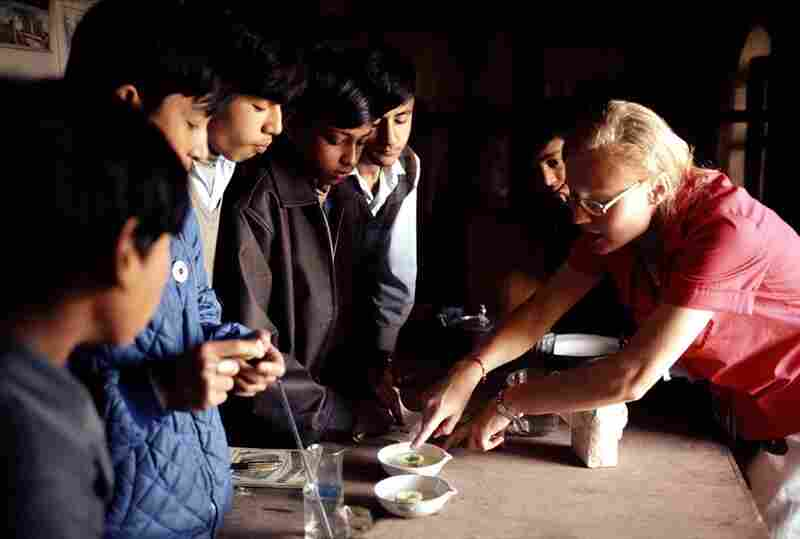 Teaching science to secondary school students, Nepal, 1973
