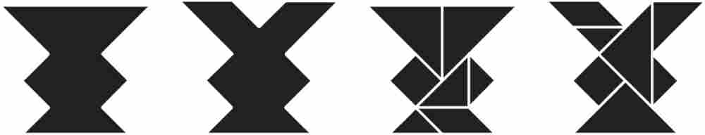 """Tangram Puzzles from """"Here's Looking at Euclid"""""""