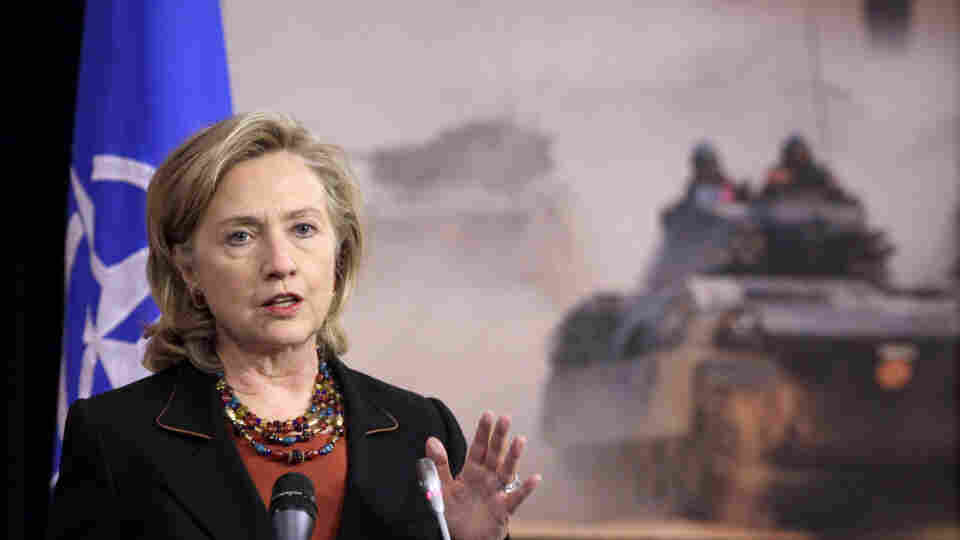 Gates And Clinton Attend NATO Roundtable Meeting
