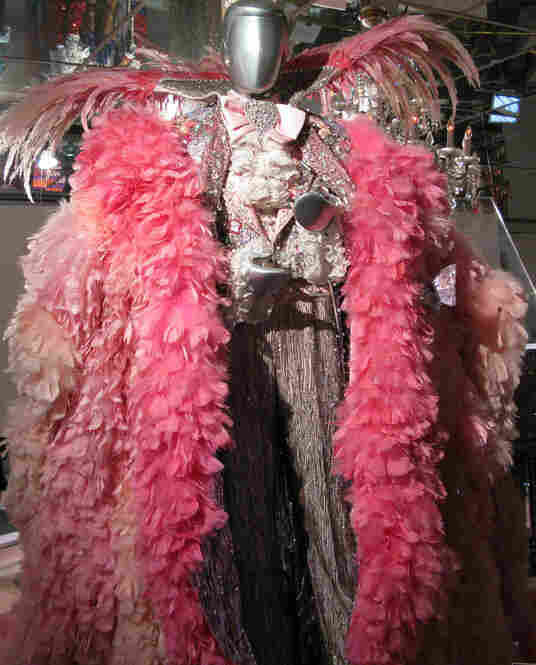 One of the performer's costumes is on display at The Liberace Museum in Las Vegas.