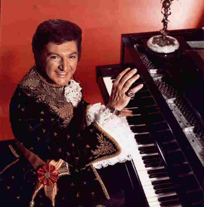 Liberace, shown in 1975.