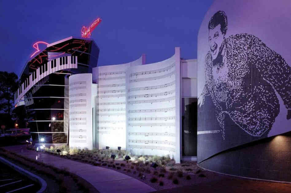 The exterior of the Liberace Museum in Las Vegas.
