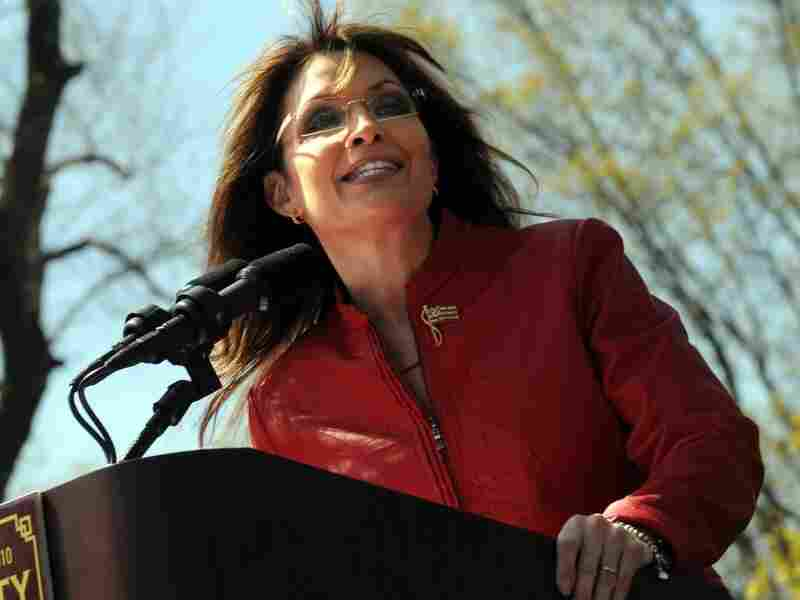 Former Alaska Governor Sarah Palin speaks at a Tea Party rally in Boston.