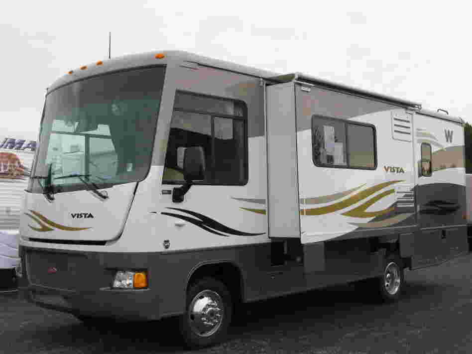 The Vista, a small, 26-foot-long Winnebago motor home.