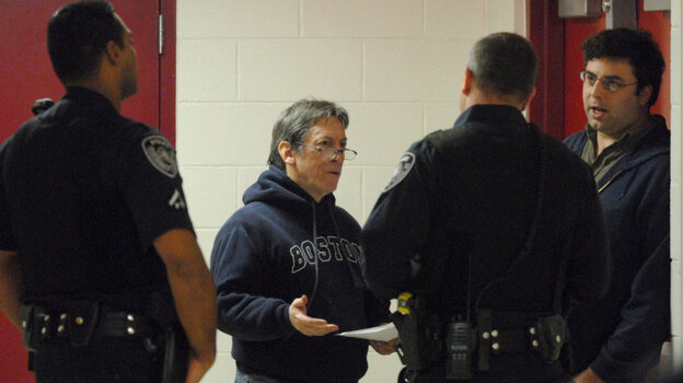 Reporter handcuffed