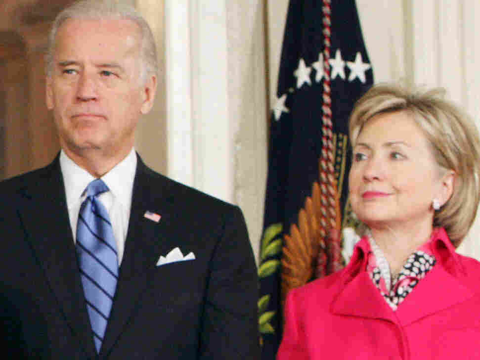 Joe Biden and Hillary Clinton.