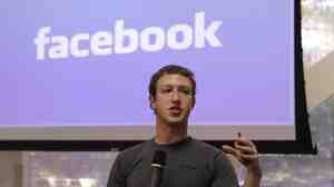 Facebook CEO Mark Zuckerberg at Facebook headquarters in Palo Alto, Calif., on Oct. 5.