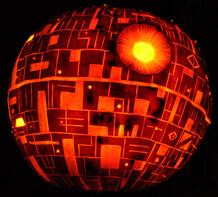 Death Star pumpkin