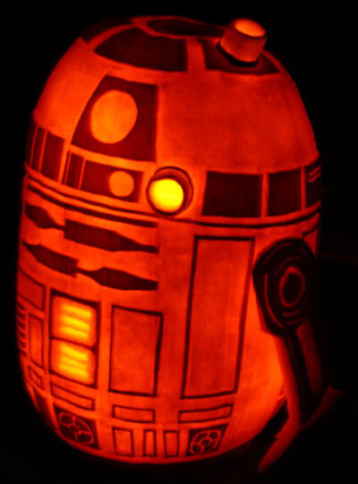 geeking out for halloween behold the r2 d2 jack o lantern all