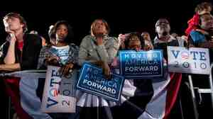 Supporters at Obama's Ohio State University rally