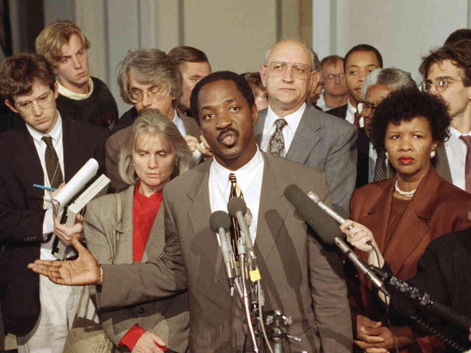 "Charles Ogletree says he was ""shocked"" to hear Ginny Thomas contacted Anita Hill."
