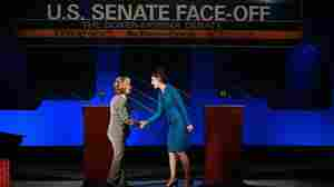 Sen. Barbara Boxer, D-CA., left, and GOP challenger Carly Fiorina. Sept. 1, 2010.