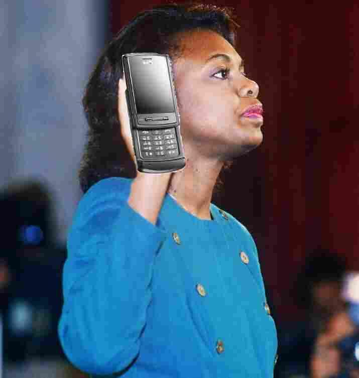US law professor Anita Hill takes oath, 12 October