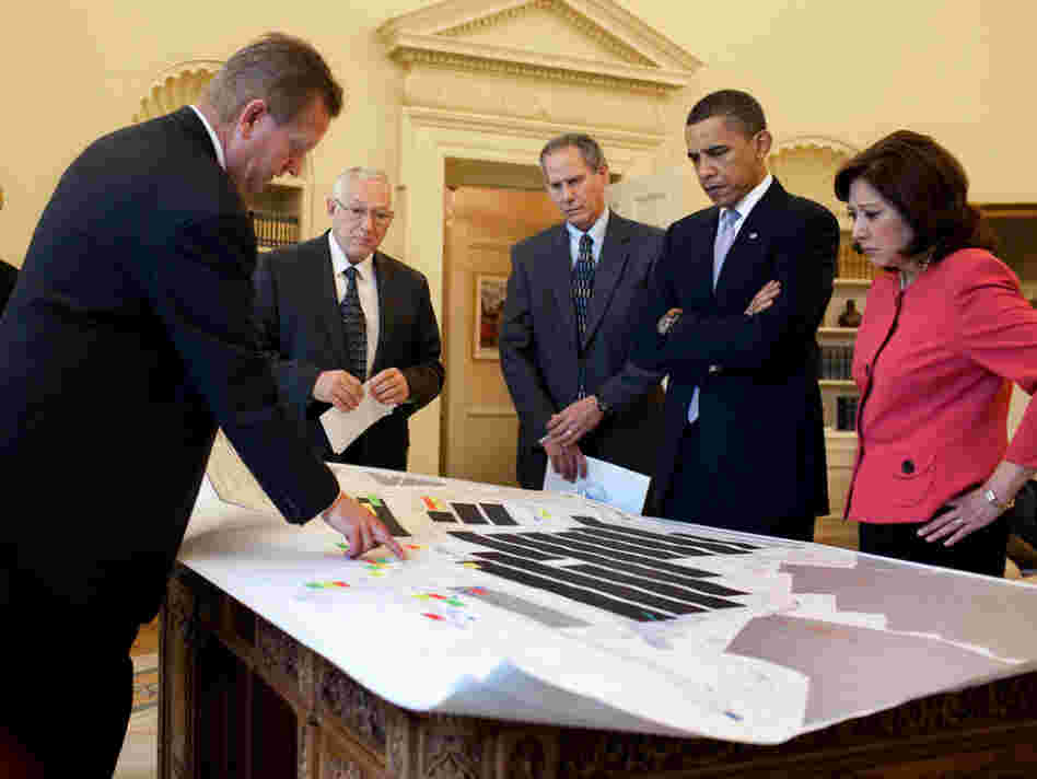 President Barack Obama at a White House meeting on mine safety.