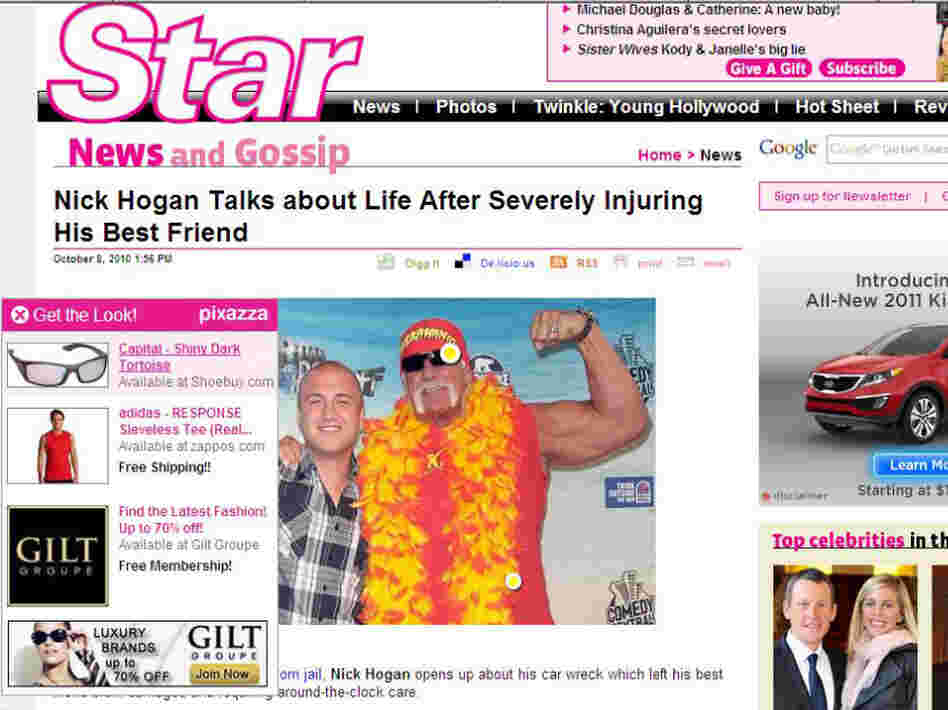An in-image ad showed up on this 'Star' magazine story about Hulk Hogan's son.