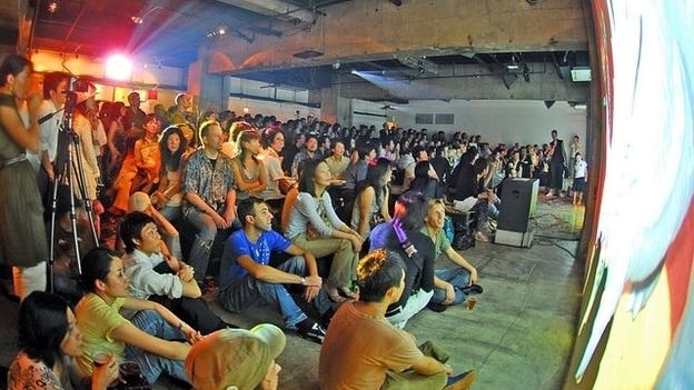 A pecha-kucha event in Tokyo