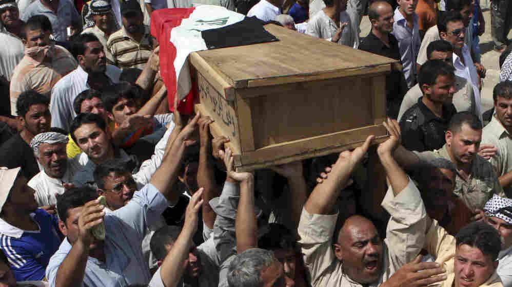 The funeral of Iraqi journalist Riyadh al-Sarai