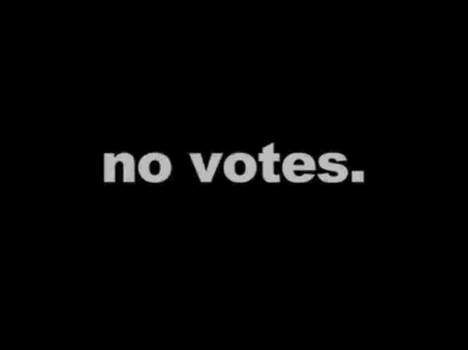"Screen grab from the Latinos for Reform ad: ""no votes"" (translation: ""don't vote"")"