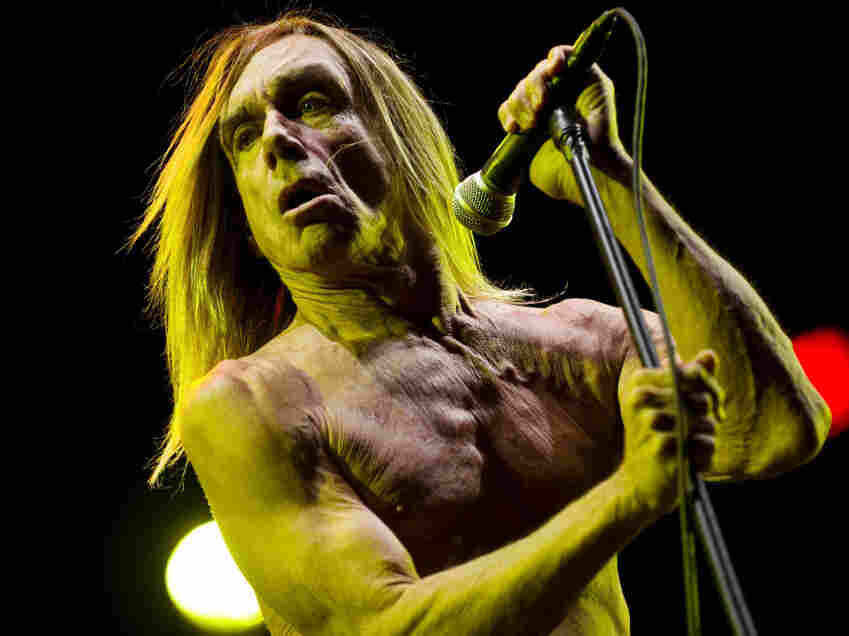 US Rocker Iggy Pop performs during the a