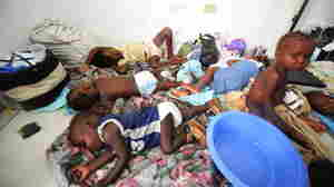 Children await treatment at a medical facility in St. Marc, Northern Haiti.