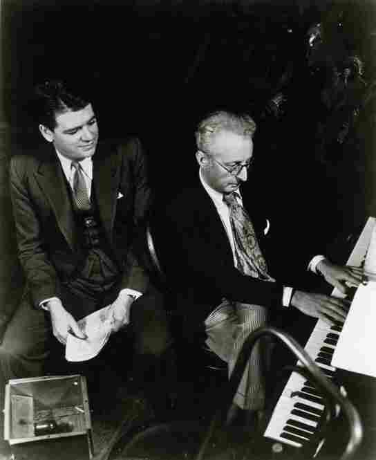 Oscar Hammerstein II (left) and Jerome Kern finished writing Showboat, one of the most influential plays in American musical theater, in 1927. The show was based on Edna Ferber's 1926 novel of the same name.