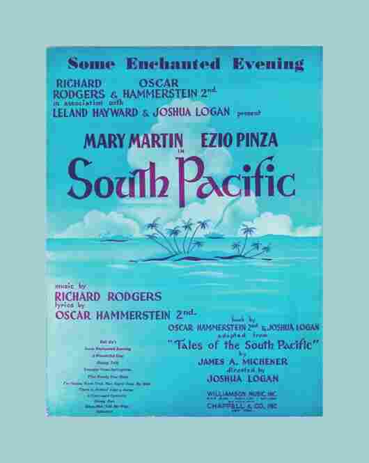 """Some Enchanted Evening"" sheet music from South Pacific, 1949."