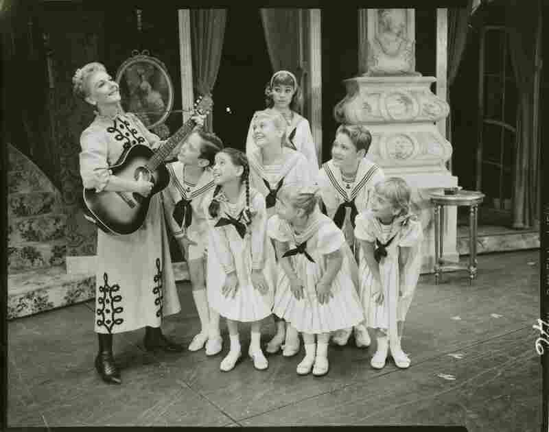 Mary Martin as Maria Rainer, governess to the von Trapp family, in the 1959 Broadway debut of Rodgers & Hammerstein's The Sound of Music. It was the pair's last collaboration before Hammerstein II's death in 1960.